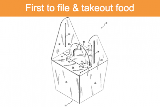 First to file and takeout food