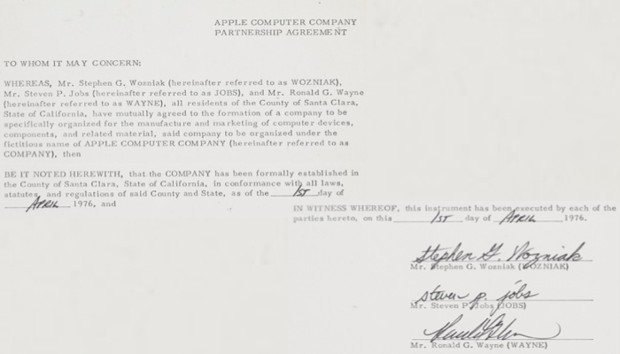 Apple Computer Founders And Partnership The Law Office Of Matthew