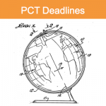 Image of a globe showing continents and countries, illustrating that PCT Deadlines can be different in each country.